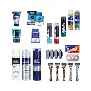 Средства для бритья, станки, лезвия